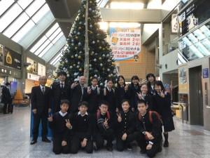 これから27日まで台湾を訪れ、高雄にある本校の姉妹校・道明中学高等学校にて交流します。ホームステイにて過ごし、道明での授業やクリスマスミサに参加します。