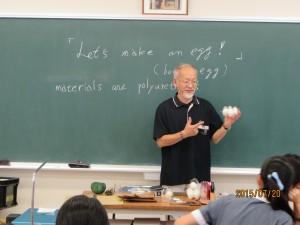道明生が愛光生と共に渡邊博明先生の美術の授業に参加しました。sさてこれから何を作るのでしょうか。