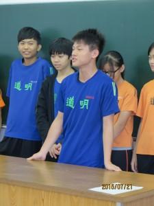 道明の生徒全員が自己紹介をした後、愛光生も数名が自己紹介をしました。