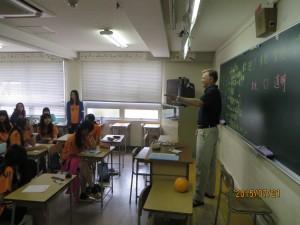 ウィリアム先生の授業です。