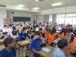 中1c組の生徒とも交流です。