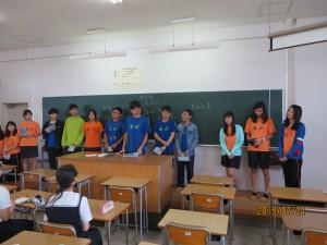3時間目は高Ⅱ文系の生徒との交流でした。