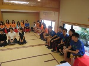2日目の最後は茶道部にてTea Ceremonyです。