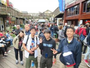 そしてPIER39へ。これまでホームステイ先やStudy Centerの周辺には一人も日本人はいなかったのですが、さすがはここPIER39。観光地ゆえ多くの日本人観光客を目にしました。