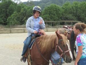 乗馬初体験の生徒も多数いました。