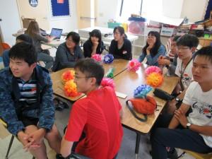 Hunter先生のグループはアメリカと日本の違いについて話していました。