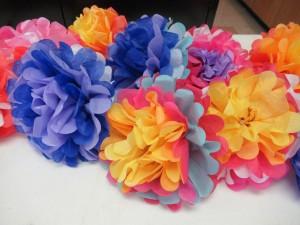 今日のレッスンでは花を作りました。さて来週もお楽しみに!